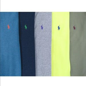 Lot Of 5 Ralph Lauren Polo Shirts Medium 3 NWOT
